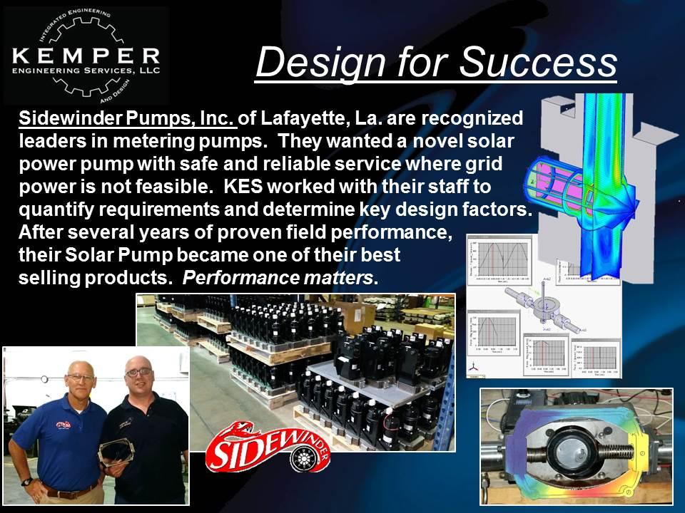 Sidewinder Pumps: Solar Pump Design